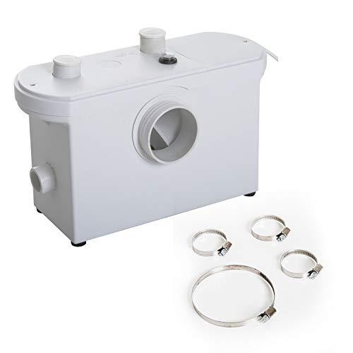 HOMCOM Bomba Trituradora de Agua Residual para Baño Lavabo o Cocina Triturador Sanitario de 600W...