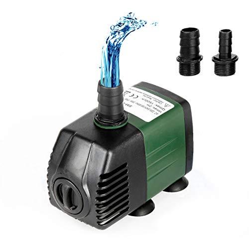 Homvik Bomba de Agua Sumergible 1500L/H 25W para Acuario Estanque Pecera Fuente Circulación de Agua...