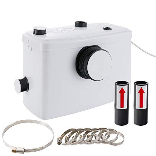 AREBOS Bomba Trituradora Sanitaria de Agua Residual Macerador | 600W | Máximo rango de...
