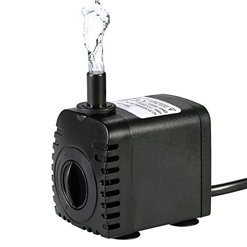 Bomba de Agua Sumergible,Decdeal 600L/H 8W Water Strider - con 2 Boquillas AC220-240V para Acuario...